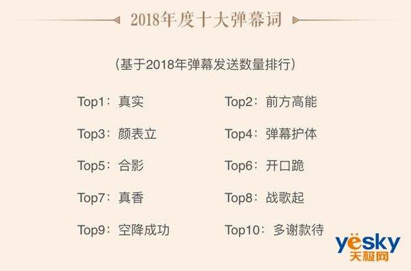 """B站联合中国社科院共同发布2018年度弹幕:""""真实""""为年度弹幕"""