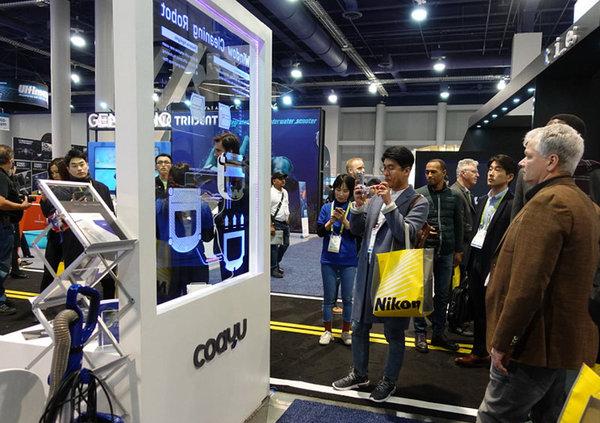 科技感十足!科语智能扫地机器人首次出征CES