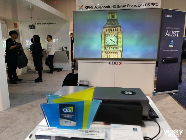 CES2019极米展台:RS Pro 4K无屏电视霸气亮相,还有多款明星产品
