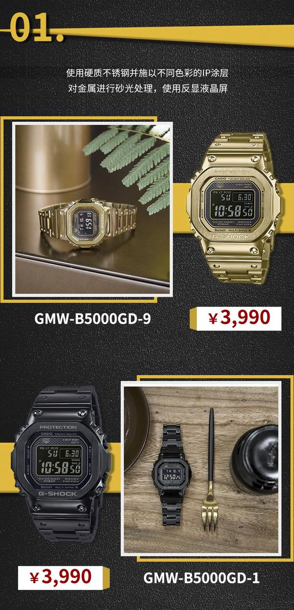 GMW-B5000系列 | 经典起源 全金属进化