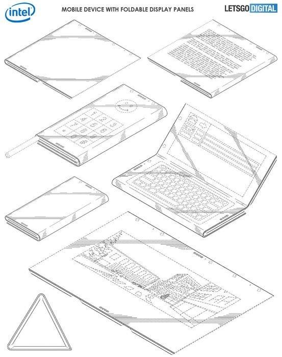 外媒曝光英特尔折叠屏专利:最快于2019年底发布
