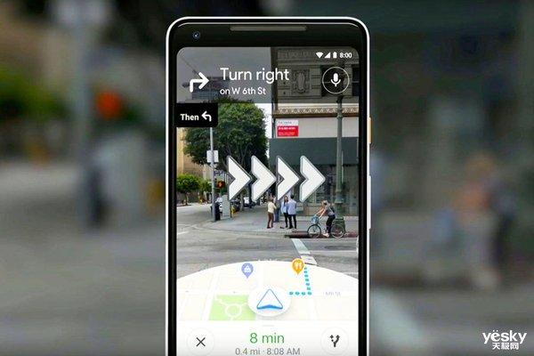 谷歌地图AR导航上线 增强现实模式正确判断方位