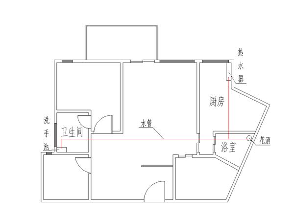 测试房屋平面图(约110平方米)