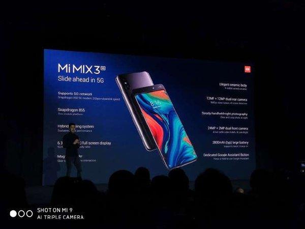 小米MIX3 5G版正式发布,现场打通国外首个5G视频通话,5月上市