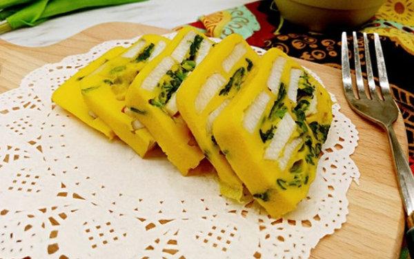 极客美食:香甜软糯―电蒸锅版山药菠菜鸡蛋糕