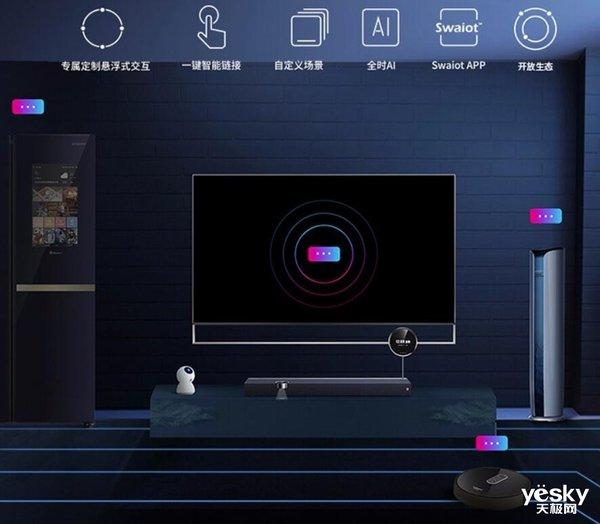 全家智能中心 三屏电视创维75Q80预售29999元