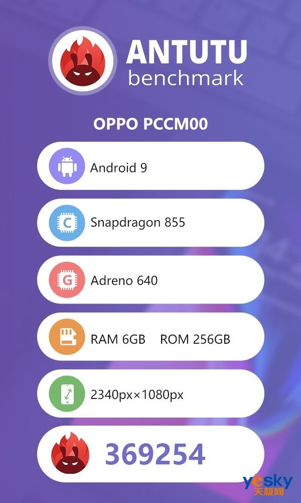 OPPO Reno系列宣布 10倍变焦版现身安兔兔跑分平台:369254分_手机行业消息