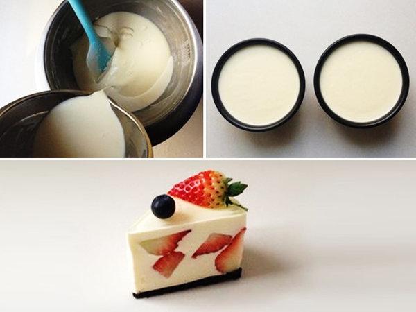 极客美食:香甜多汁―打蛋器版草莓芝士蛋糕