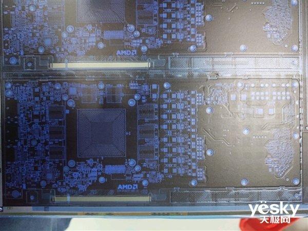 Navi显卡PCB曝光:最多双8pin供电与16GB显存