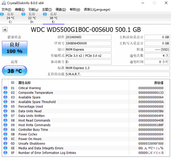 西部数据WD Blue SN500 NVMe SSD固态硬盘评测