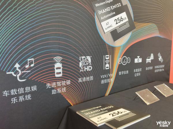 2022年单车存储需求达2TB 西部数据发布汽车级嵌入式闪存解决方案