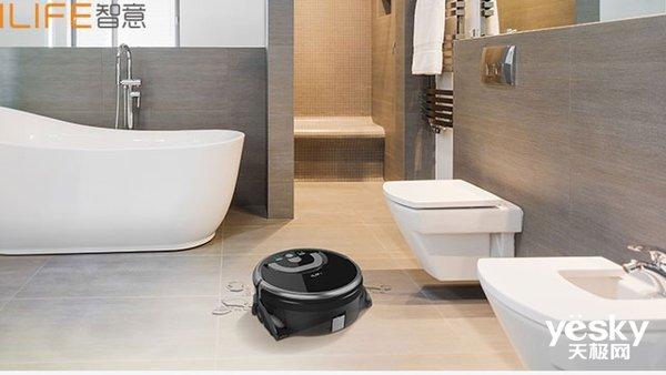 ILIFE智意W400洗地机器人全方位洗净污渍重灾区