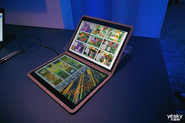 英特尔推出双屏笔记本 布料质地外壳引人注目