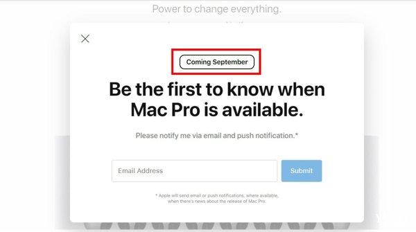 苹果官网页面有亮点 全新Mac Pro极大可能9月开售
