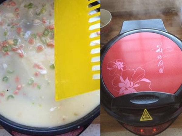 极客美食:营养早餐―电饼铛版鸡蛋香肠饼