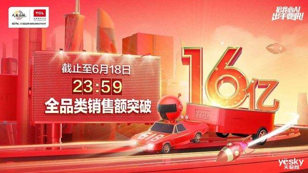 TCL618战报 全品类销售额累计破16亿