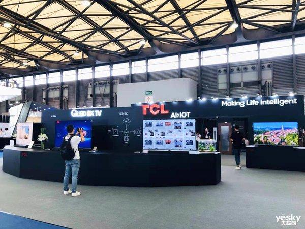 UDE2019:TCL 展示QLED 8K TV、AIxIOT技术