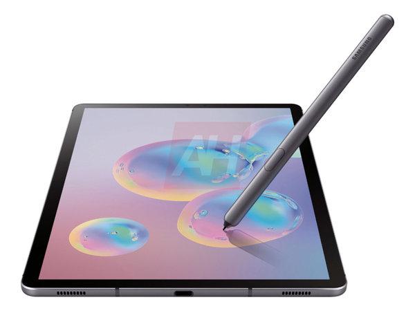 三星Galaxy Tab S6平板渲染图曝出 无线充电S Pen+后置双摄