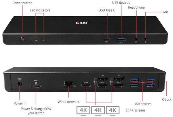 Club 3D推出CSV-1562 USB Type-C扩展坞