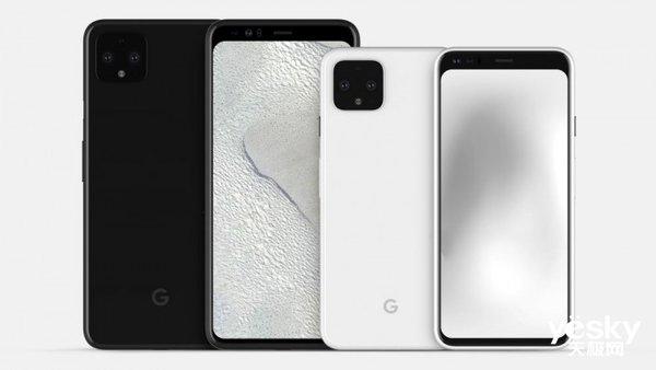 谷歌Pixel 4渲染图曝光:大额头加后置浴霸