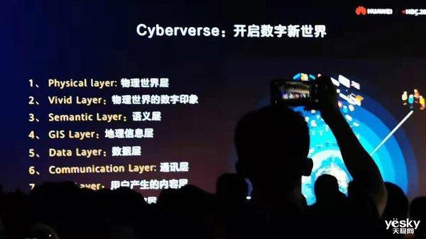 华为开发者大会发布虚实融合平台Cyberverse