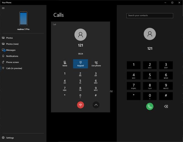 """通过Windows 10的""""Your Phone""""应用在电脑上打电话"""