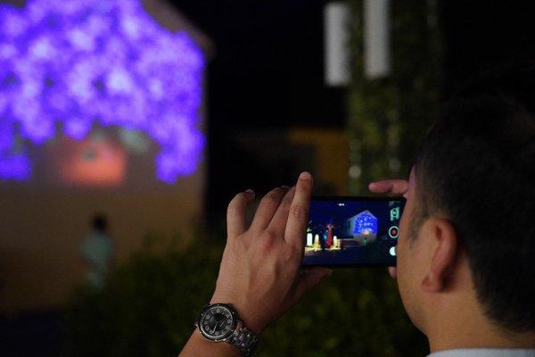 文创灯光第一村实景教学,索尼激光工程投影机如何打造户外文旅夜游新地标?