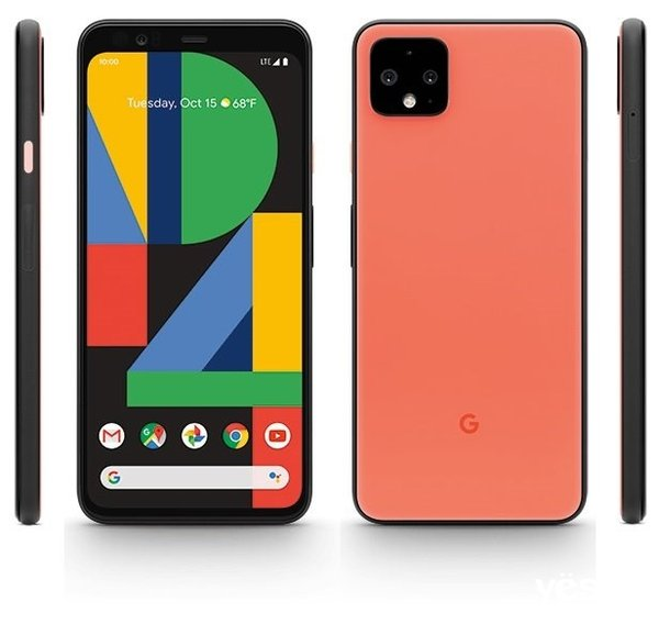Pixel 4渲染图泄露 三种颜色和Android 10 UI