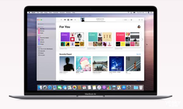 苹果推送macOS Catalina正式版 iTunes再见