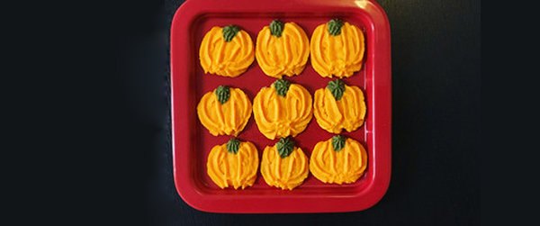 极客美食:万圣节甜点―电烤箱版南瓜曲奇