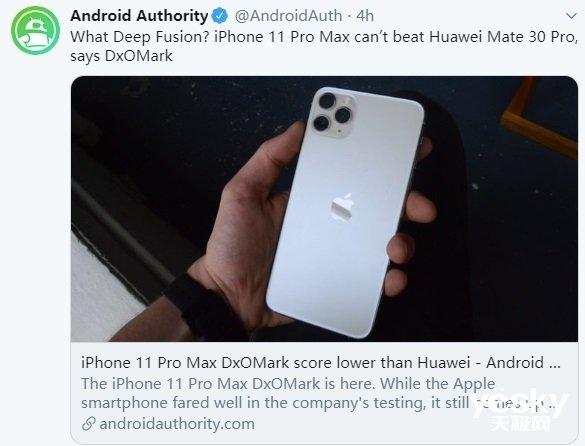 iPhone 11 Pro Max拍照输给Mate30 Pro 外媒不淡定了