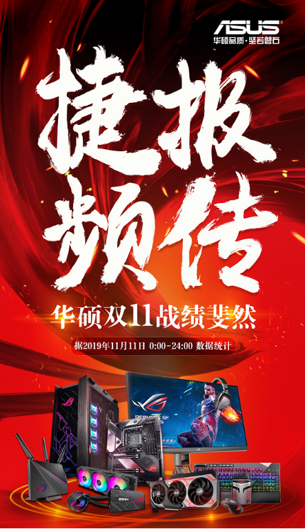 京东双11电竞显示器品类销售额第一被华硕摘下