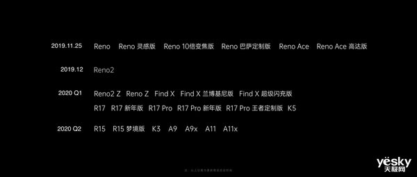 OPPO Reno3双模5G手机将于12月发布 成为首款搭载ColorOS 7系列