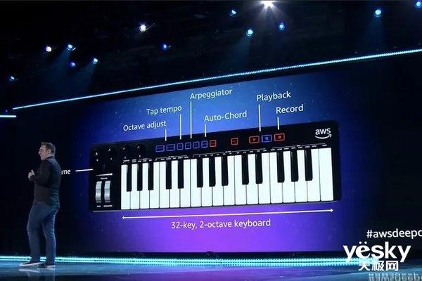 售价99美元 亚马逊推出DeepComposer AI音乐键盘