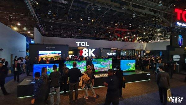 CES2020:TCL展示8K电视X9以及旋转智屏Pro
