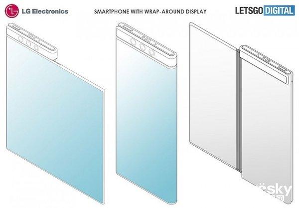 LG折叠屏专利图像曝光 不对称的折叠屏