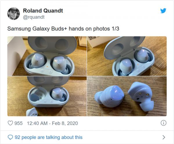 三星Galaxy Buds+真机照提前曝光 续航升级