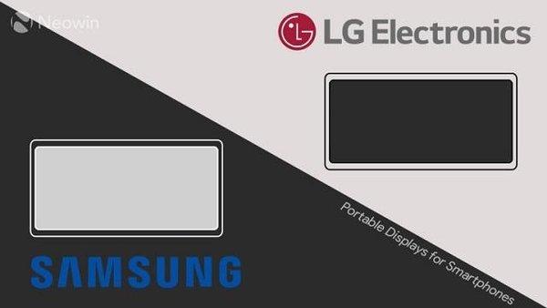三星和LG正在为手机开发便携式显示器 有望在第二季度发布