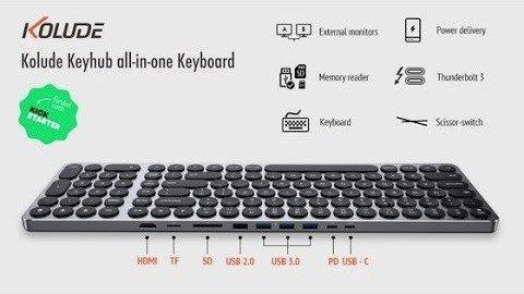 Kolude推出带扩展坞的Keyhub KD-K1键盘
