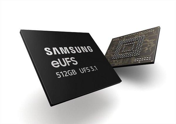 三星宣布量产512GB容量的eUFS 3.1闪存