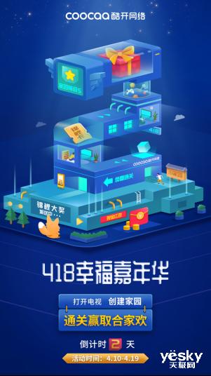 """酷开网络418周年庆""""创建幸福家园""""活动即将开启??大屏宠粉又双��要来了"""