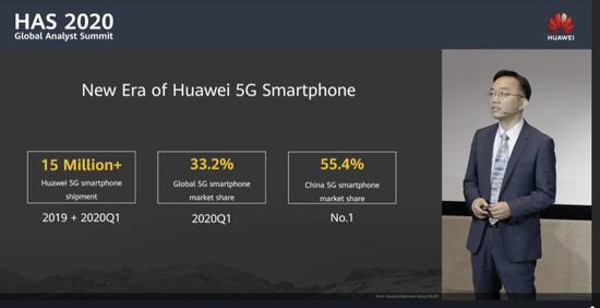 华为5G手机已出货1500万台,每卖两台5G手机就有一台华为