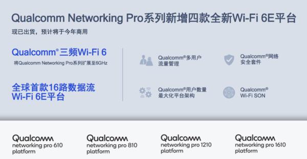 高通推出完整的全新Wi-Fi 6E网络平台产品组合 峰值速度可达10.8Gbps
