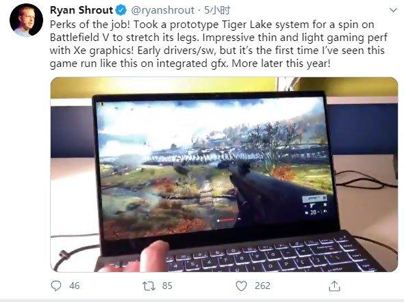 核显性能大提升 11代酷睿核显畅玩《战地5》