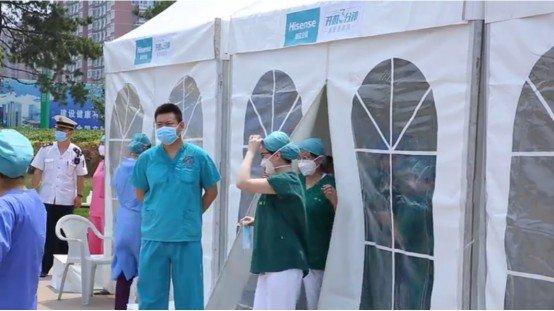 助力北京抗疫 首批海信新风空调已安装至多个核酸检测点