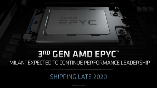 7nm+与Zen3架构 AMD米兰EPYC霄龙处理器曝光