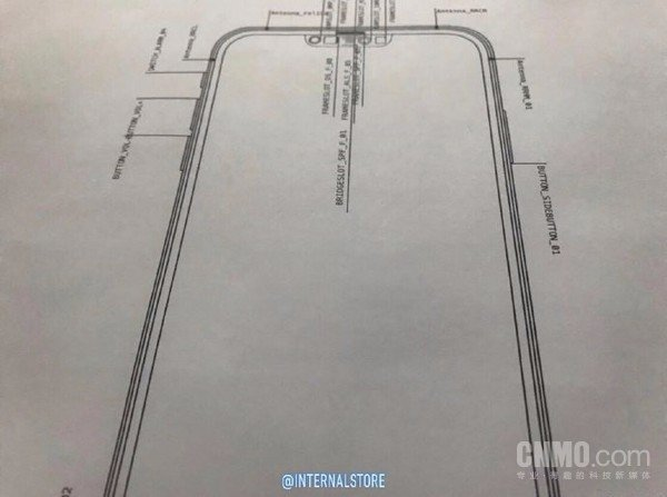 疑似苹果iPhone 12设计草图曝光:刘海面积变小0