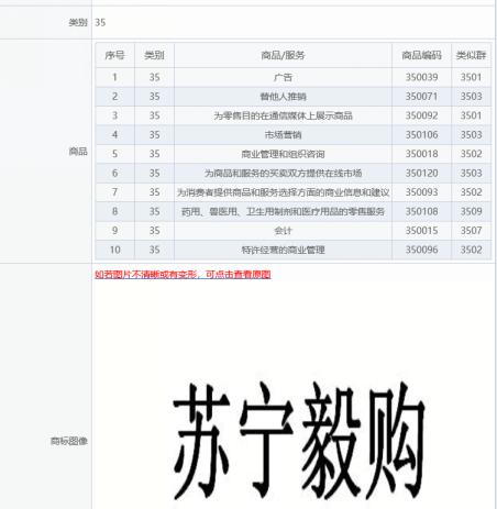 """苏宁易购申请""""苏宁毅购""""商标并上线专场活动"""