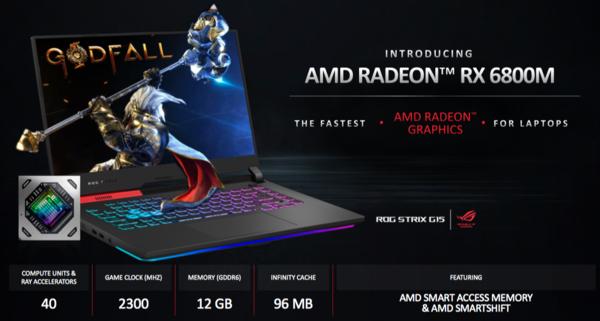 AMD发布RX 6000M系列移动显卡等多款重磅产品 游戏玩家的春天又来了