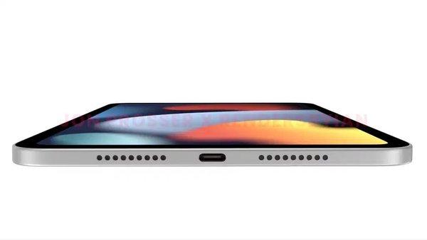 苹果iPad mini 6新渲染图曝光:更窄的边框、USB-C和Touch ID电源键